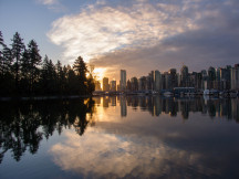 Stanley Park and Coal Harbour by Don Enright